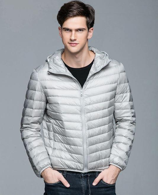 Bestsellrz® Down Puffer Bomber Winter Jacket Hoodie - Windyce™ Down Jackets Gray / 3XS Windyce™
