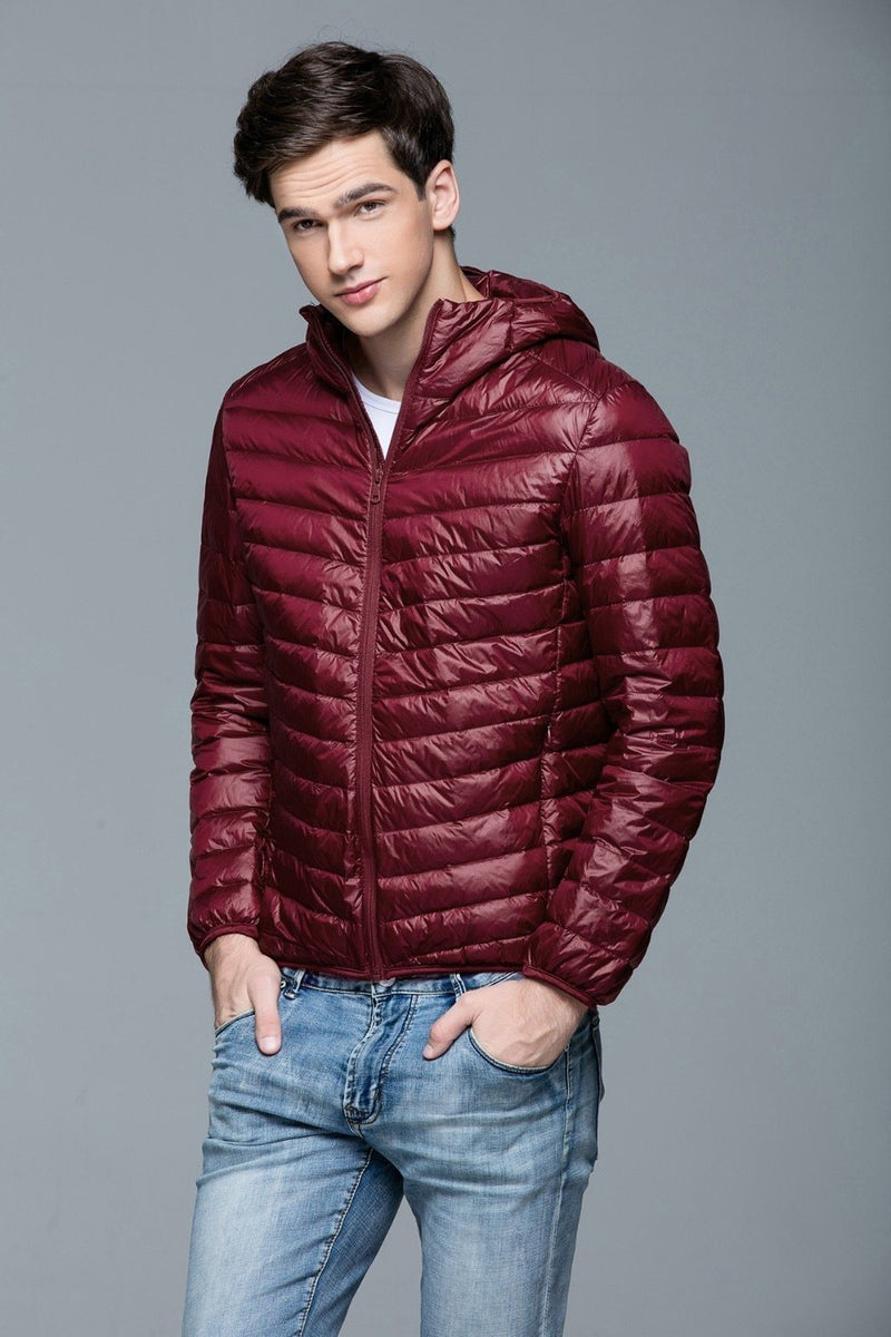 Bestsellrz® Down Puffer Bomber Winter Jacket Hoodie - Windyce™ Down Jackets Red / 3XS Windyce™