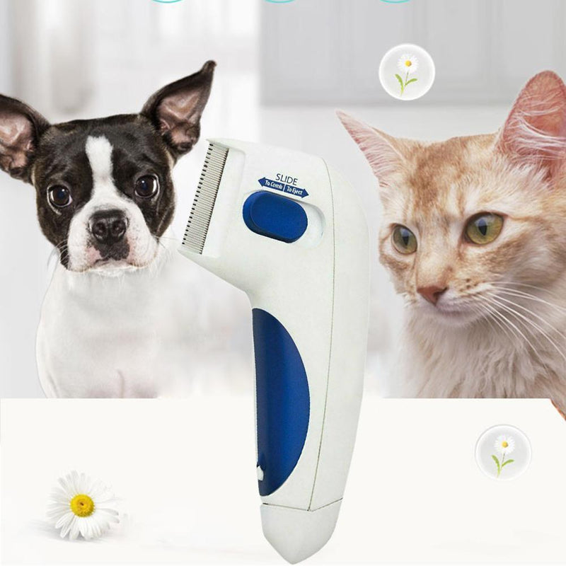 Electric Flea Comb For Dogs Electronic Tick Zapper - Exoflea ...