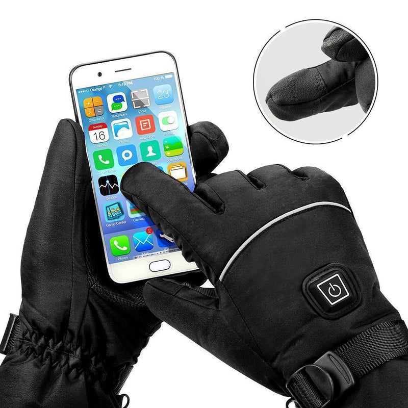 Bestsellrz® Electric Warm Thermal Heated Gloves Touch Screen Compatible - Glovarm™ Heated Gloves Black Glovarm™