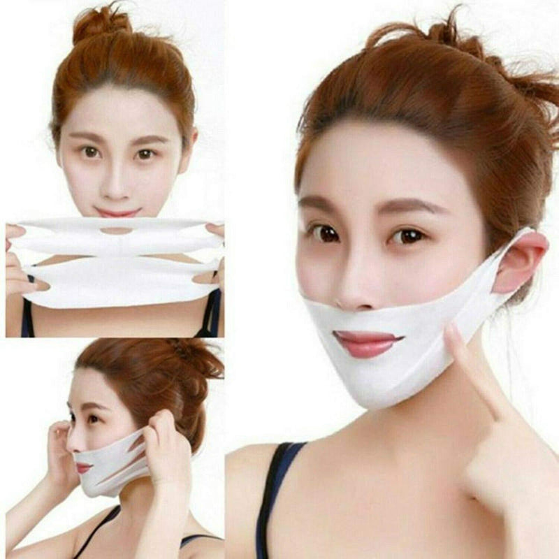 Bestsellrz® Face Jawline Slimming Mask V Shape Chin Wrap Face Lift Strap Band- Weatox™ Face Mask of 3 Weatox™