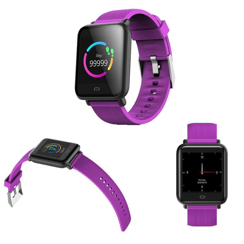 Bestsellrz® Fitness Activity Tracker Smartwatch Waterproof iOS Android -Fitsio™ Smart watches Purple Fitsio™