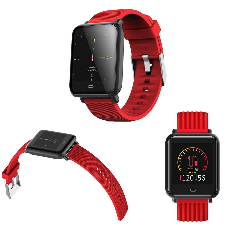 Bestsellrz® Fitness Activity Tracker Smartwatch Waterproof iOS Android -Fitsio™ Smart watches Red Fitsio™
