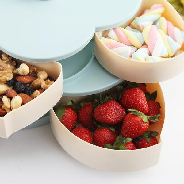 Bestsellrz® Flower Petal Shaped Candy Rotating Box Embellishment Storage- Bloomzo™ Storage Boxes & Bins Bloomzo™