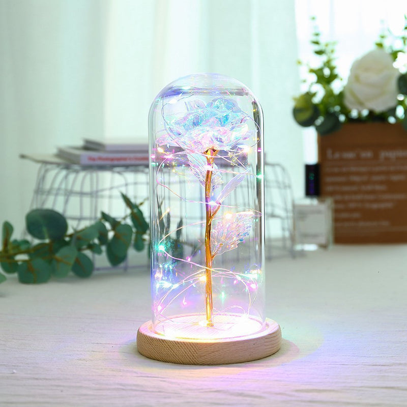 Bestsellrz® Galaxy Enchanted Rose Glass Led Flower Lights Rose in a Dome - Rosaic™ Galaxy Dome Rosaic™