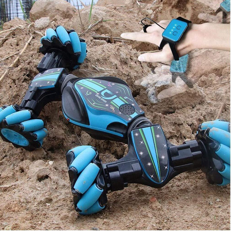 Bestsellrz® Gesture Controlled Remote Control Stunt Off Road Car  - Exocar™ Gesture Car Blue Exocar™