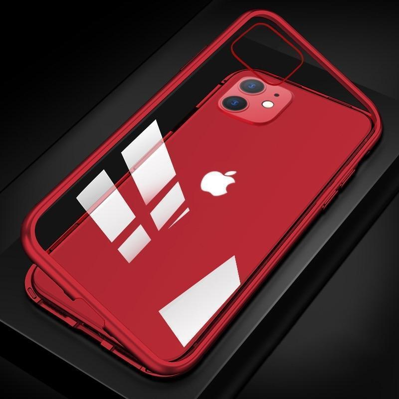 Bestsellrz® iPhone Case Magnetic Protective Tempered Glass Clear Case - RugCase™ iPhone Cases Crystal Red / For iPhone 11 Pro Max RugCase™
