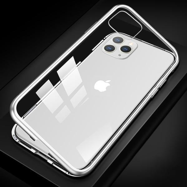 Bestsellrz® iPhone Case Magnetic Protective Tempered Glass Clear Case - RugCase™ iPhone Cases Crystal White / For iPhone 11 Pro Max RugCase™