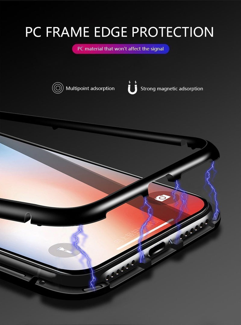 Bestsellrz® iPhone Case Magnetic Protective Tempered Glass Clear Case - RugCase™ iPhone Cases RugCase™