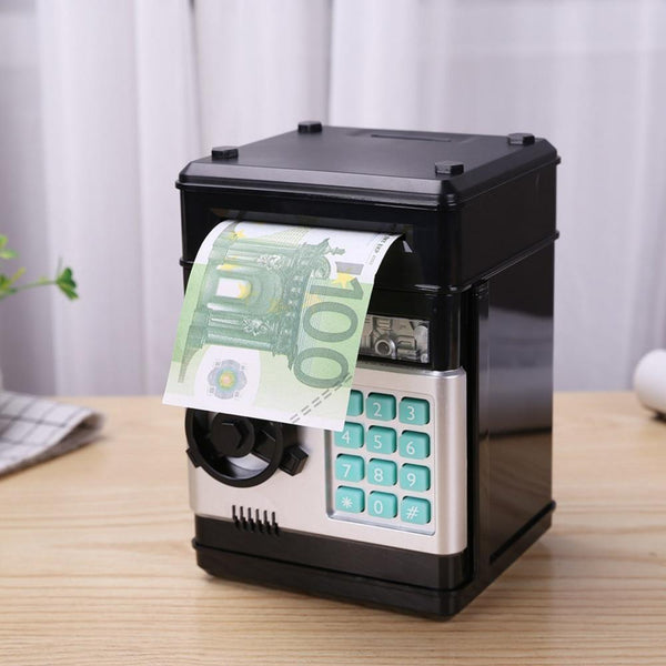 Bestsellrz® Kids Electronic Automatic ATM Piggy Bank - Investiggy™ Piggy Banks BLACK Investiggy™