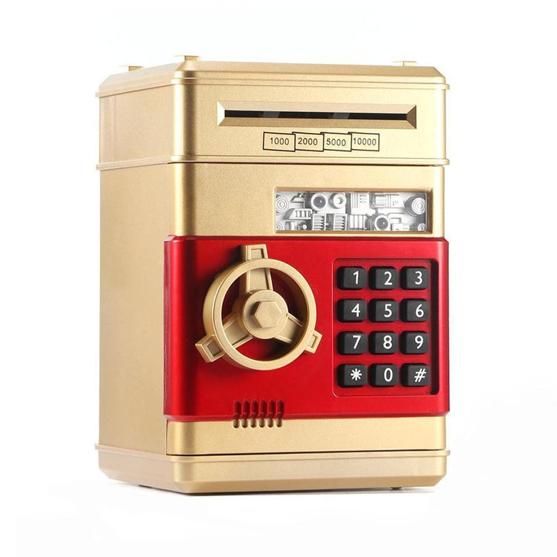 Bestsellrz® Kids Electronic Automatic ATM Piggy Bank - Investiggy™ Piggy Banks GOLDEN Investiggy™
