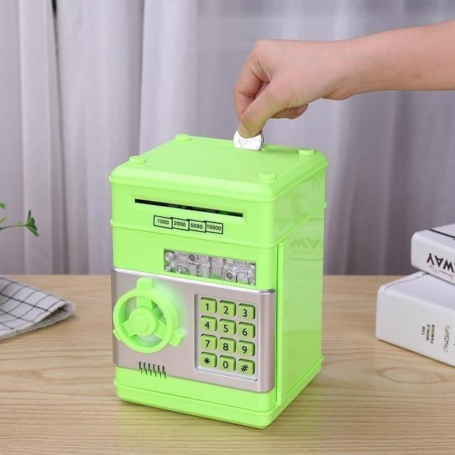 Bestsellrz® Kids Electronic Automatic ATM Piggy Bank - Investiggy™ Piggy Banks GREEN Investiggy™