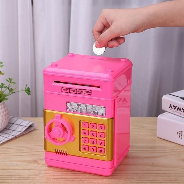 Bestsellrz® Kids Electronic Automatic ATM Piggy Bank - Investiggy™ Piggy Banks HOT PINK Investiggy™