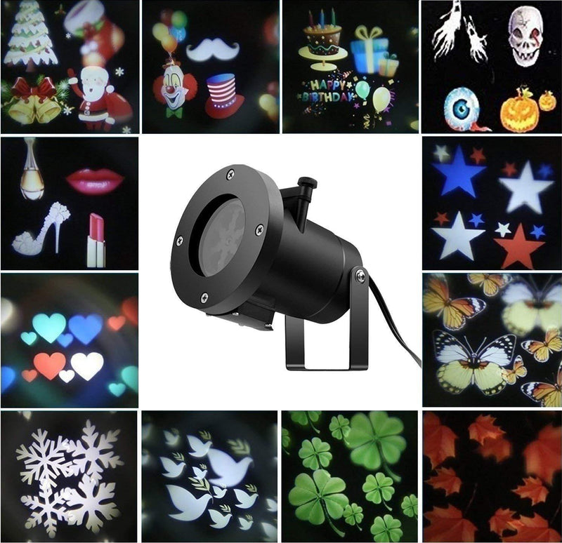 Bestsellrz® Laser Light Projector Halloween Christmas Decorative Lights -Stellixo™ LED Projector Lights With 12 Graphics Stellixo™