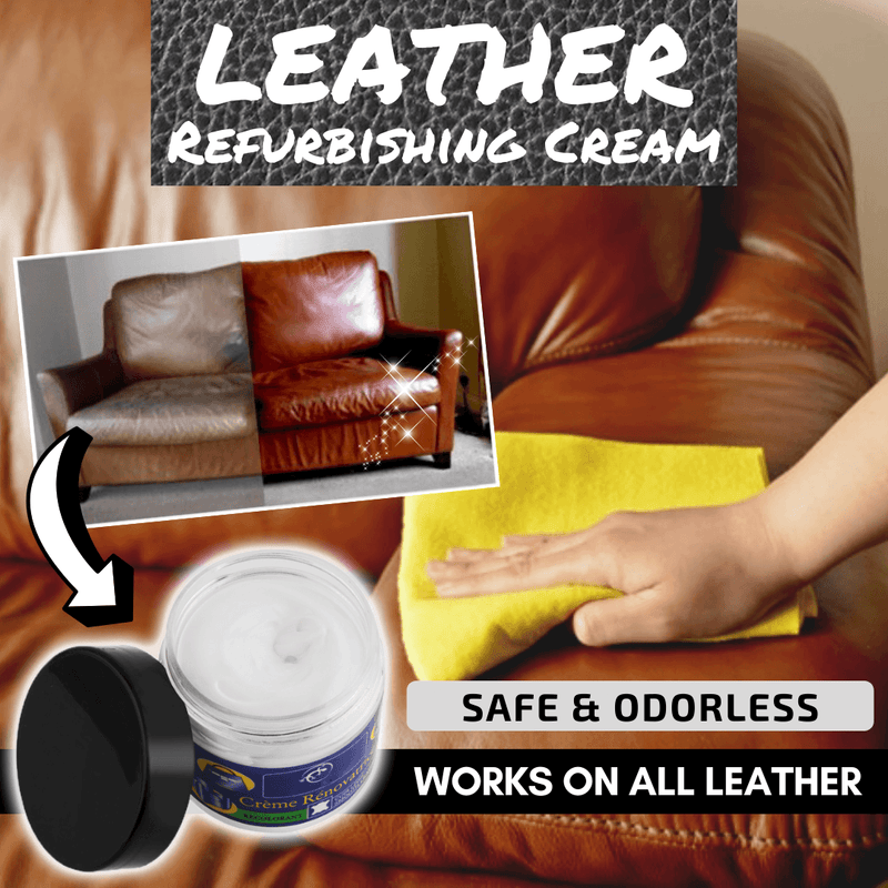 Bestsellrz® Leather Restoration Repair Cream and Recoloring Balm Kit for Car Sofa Leather Restoration Cream Restoration Cream +Brown Coating Leather Restoration Kit
