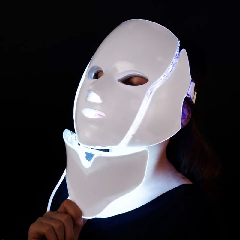 Bestsellrz® LED Face Mask Light therapy 7 color Anti Aging Acne Wrinkles Red Blue Face Skin Care Tools EU Plug / Lumask™ Pro Lumask™