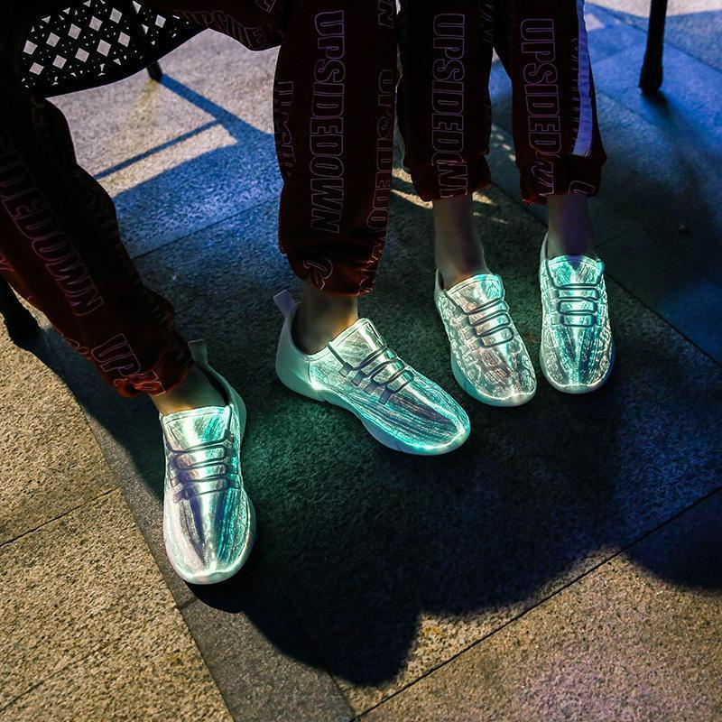 Bestsellrz® Led Light Shoes For Boys Men and Women Glowing Sneakers - Lumakiks™ Optic Fiber Sneakers Lumakiks™