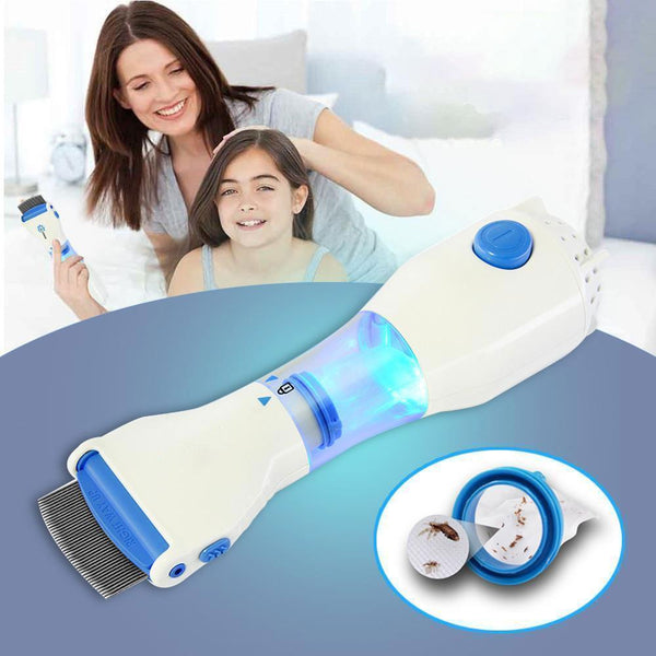 Bestsellrz® Lice Vacuum Comb Electric Head Lice, Nits, Flea Treatment - Clexos™ Flea Comb EU Plug Clexos™