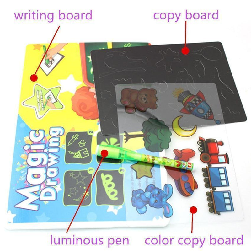 Bestsellrz® Light Drawing Pad Led Glowing Draw Toy Board - Sketchglo™ Luminous Drawing Board and Pen Sketchglo™