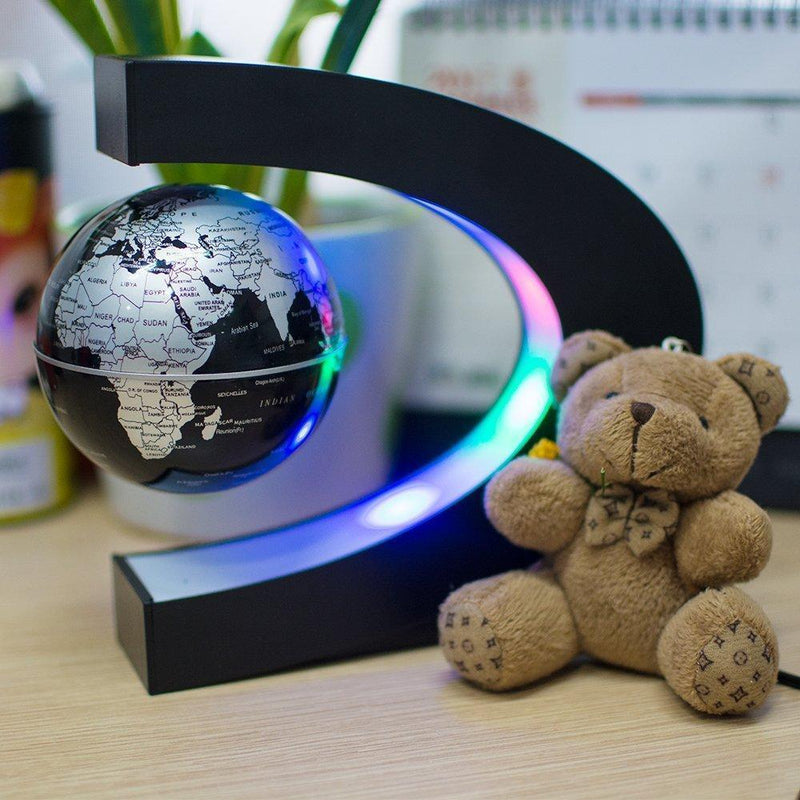 Bestsellrz® Magnetic Spinning Globe Decorative Levitating Rotating Floating Globe - OroGlo™ Figurines & Miniatures UK Black OroGlo™