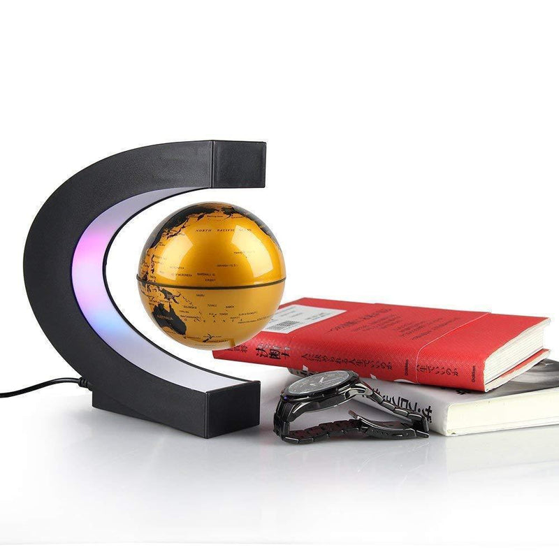 Bestsellrz® Magnetic Spinning Globe Decorative Levitating Rotating Floating Globe - OroGlo™ Figurines & Miniatures UK Gold OroGlo™
