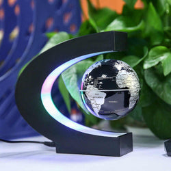 Bestsellrz® Magnetic Spinning Globe Decorative Levitating Rotating Floating Globe - OroGlo™ Figurines & Miniatures US Black OroGlo™