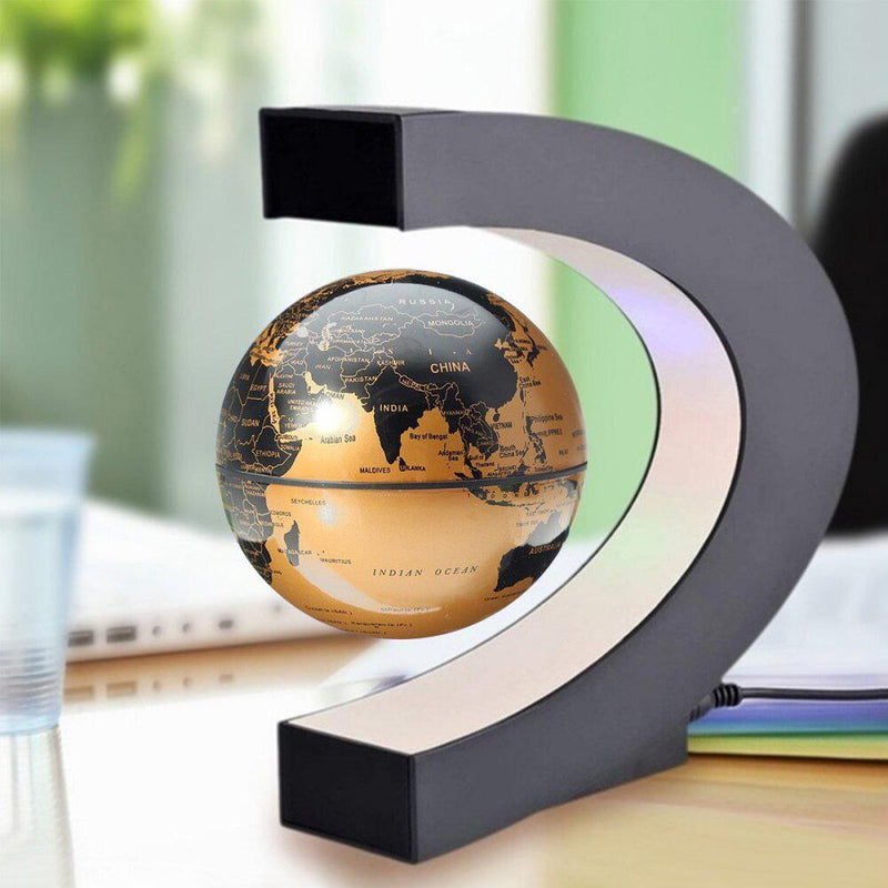 Bestsellrz® Magnetic Spinning Globe Decorative Levitating Rotating Floating Globe - OroGlo™ Figurines & Miniatures US Gold OroGlo™