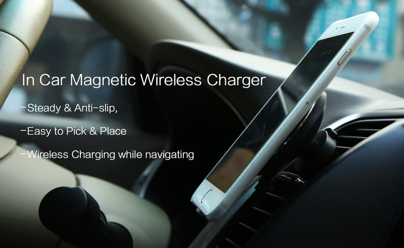 Bestsellrz® Magnetic Wireless Charger Car Qi Mount Holder For Fast Charging Car Chargers Credrive™