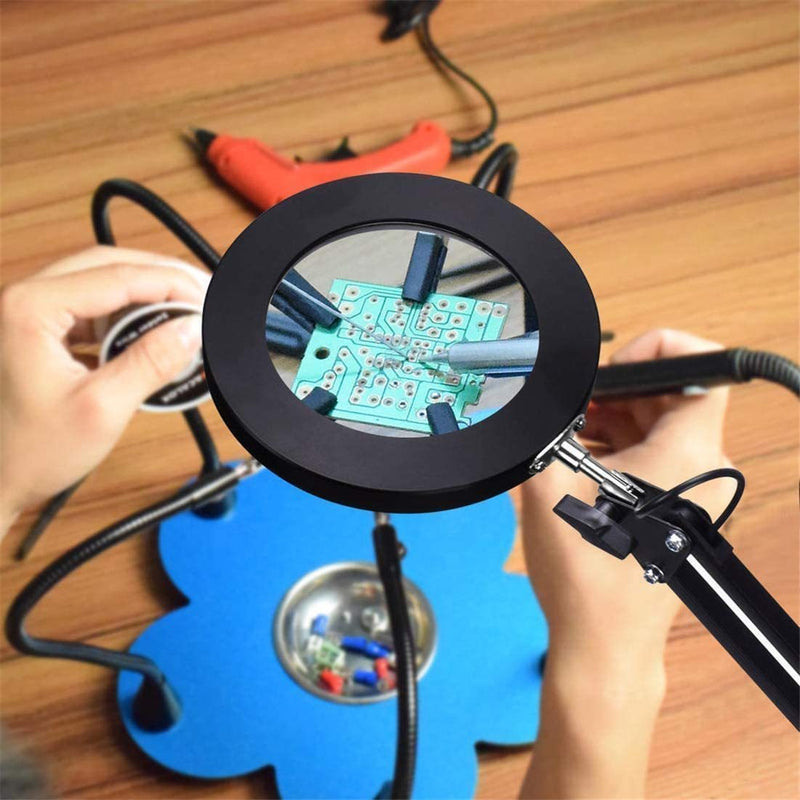 Bestsellrz® Magnifier Glass with Led light Magnifying Lens Tabletop Lamp - Magnifio™ Magnifiers Magnifio™