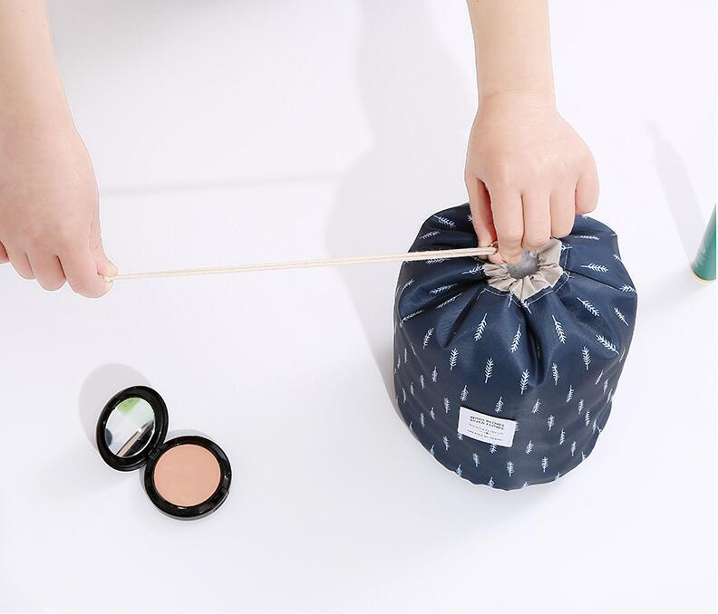 Bestsellrz® Makeup Bag Best Travel Toiletry Cosmetic Organizer Drawstring Foldable Cosmetic Bags & Cases Glampack™ 2.0