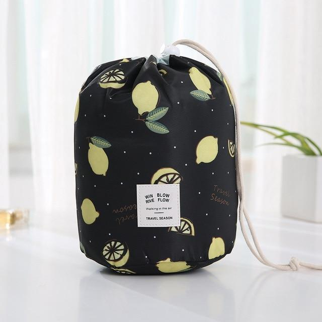 Bestsellrz® Makeup Bag Best Travel Toiletry Cosmetic Organizer Drawstring Foldable Cosmetic Bags & Cases lemon Glampack™ 2.0