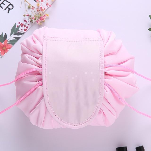 Bestsellrz® Makeup Travel Bag Cosmetic Lazy Drawstring Cute Toiletry Pouch Fashion Cosmetic Bags Baby Pink Glampack™