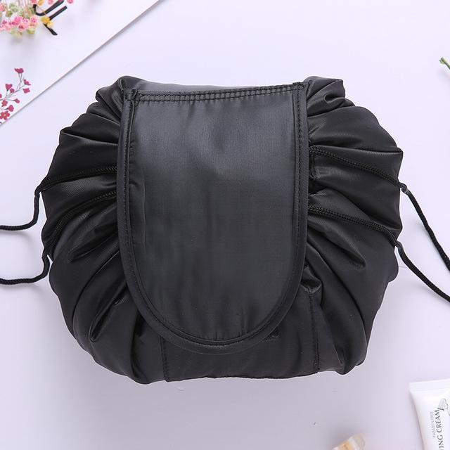 Bestsellrz® Makeup Travel Bag Cosmetic Lazy Drawstring Cute Toiletry Pouch Fashion Cosmetic Bags Black Glampack™