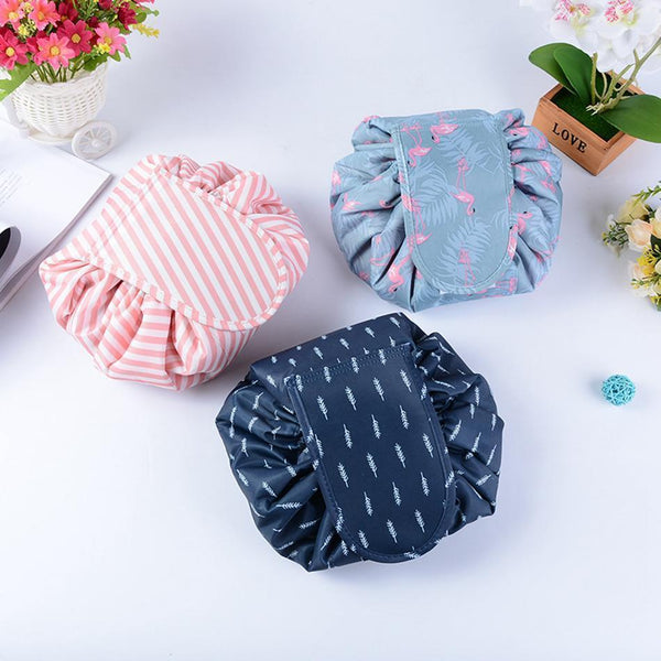 Bestsellrz® Makeup Travel Bag Cosmetic Lazy Drawstring Cute Toiletry Pouch Fashion Cosmetic Bags Glampack™