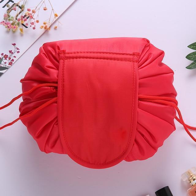 Bestsellrz® Makeup Travel Bag Cosmetic Lazy Drawstring Cute Toiletry Pouch Fashion Cosmetic Bags Hot Red Glampack™