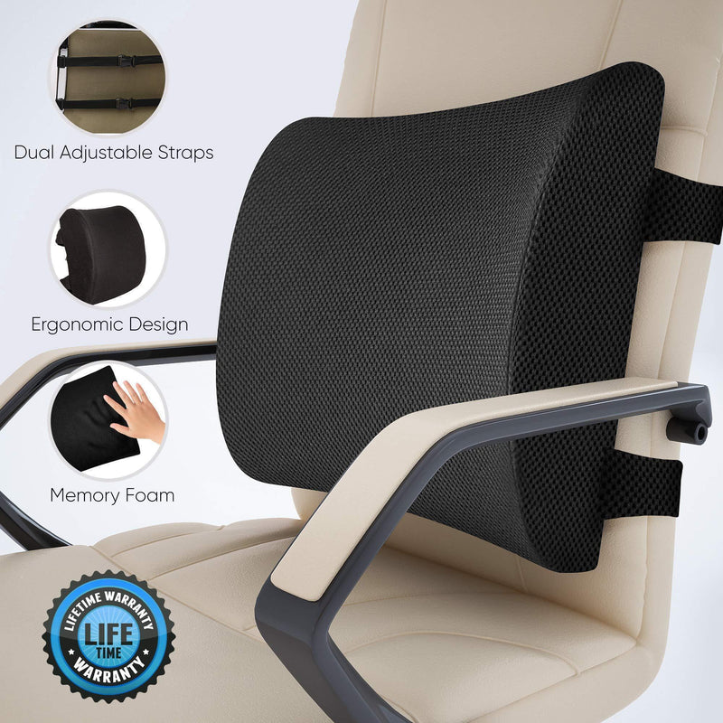 Bestsellrz® Neck and Lumbar Support Ergonomic Pillow for Car Seat Office Chair  Lumbar And Neck Pillow For Car Lumbar Pillow Lumbar and Neck Support Pillow