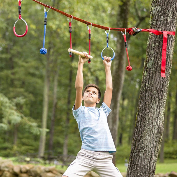 Bestsellrz® Outdoor Fitness Equipment Red Slackline Kit