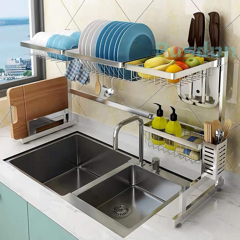 Bestsellrz® Over the Sink Kitchen Storage Racks Stainless Steel Shelves- Primrack™ Kitchen Shelf Stainless Steel 65CM Primrack™