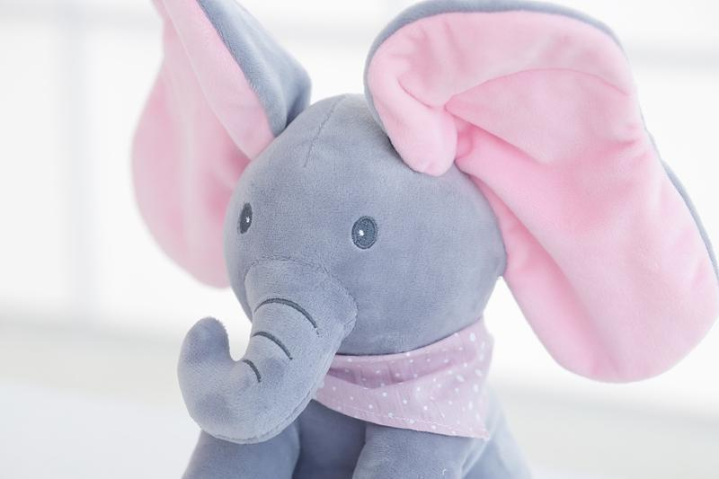 Bestsellrz® Peek-A-Boo Animated Cartoon Elephant - Elefriend™ Stuffed & Plush Animals Elefriend™