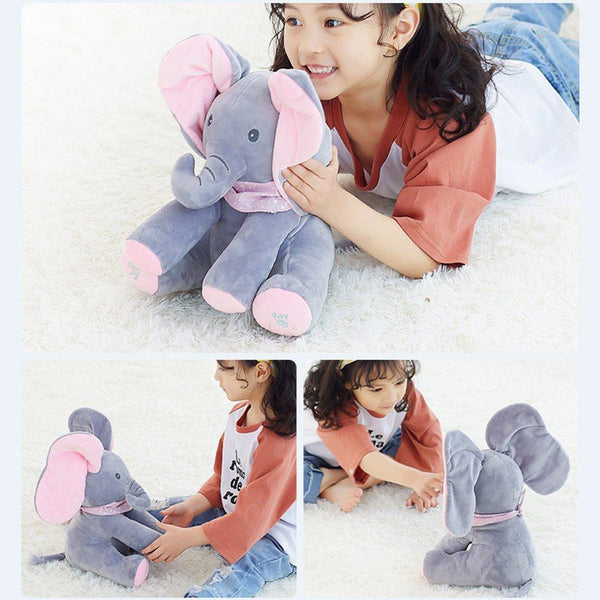 Bestsellrz® Peek-A-Boo Animated Cartoon Elephant - Elefriend™ Stuffed & Plush Animals Multi Elefriend™