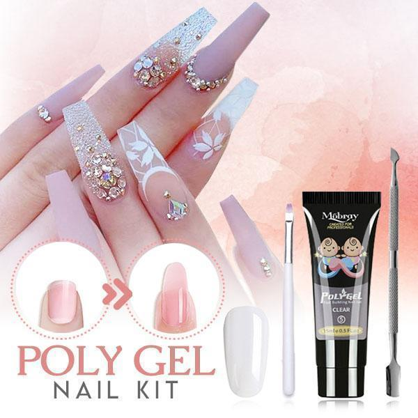 Bestsellrz® Polygel Nail Kit Fake Nails False Artificial Extension - ExoNail™ Nail Gel Clear ExoNail™