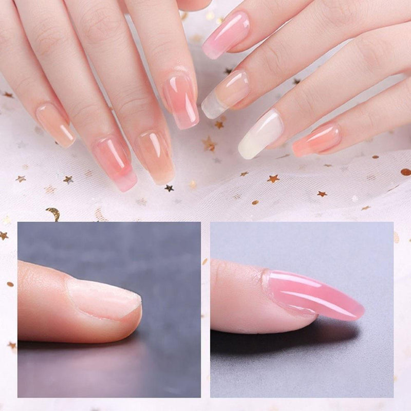 Bestsellrz® Polygel Nail Kit Fake Nails False Artificial Extension - ExoNail™ Nail Gel Clear Nude ExoNail™
