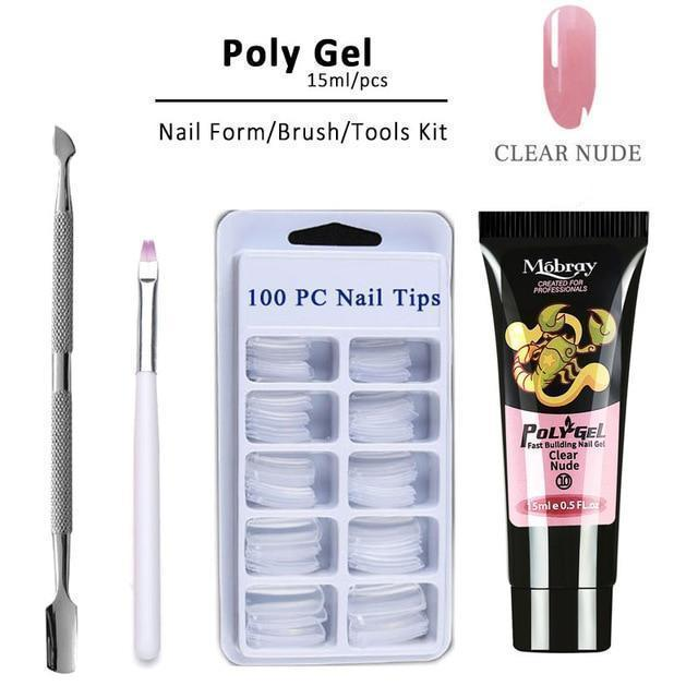 Bestsellrz® Polygel Nail Kit Fake Nails False Artificial Extension - ExoNail™ Nail Gel ExoNail™