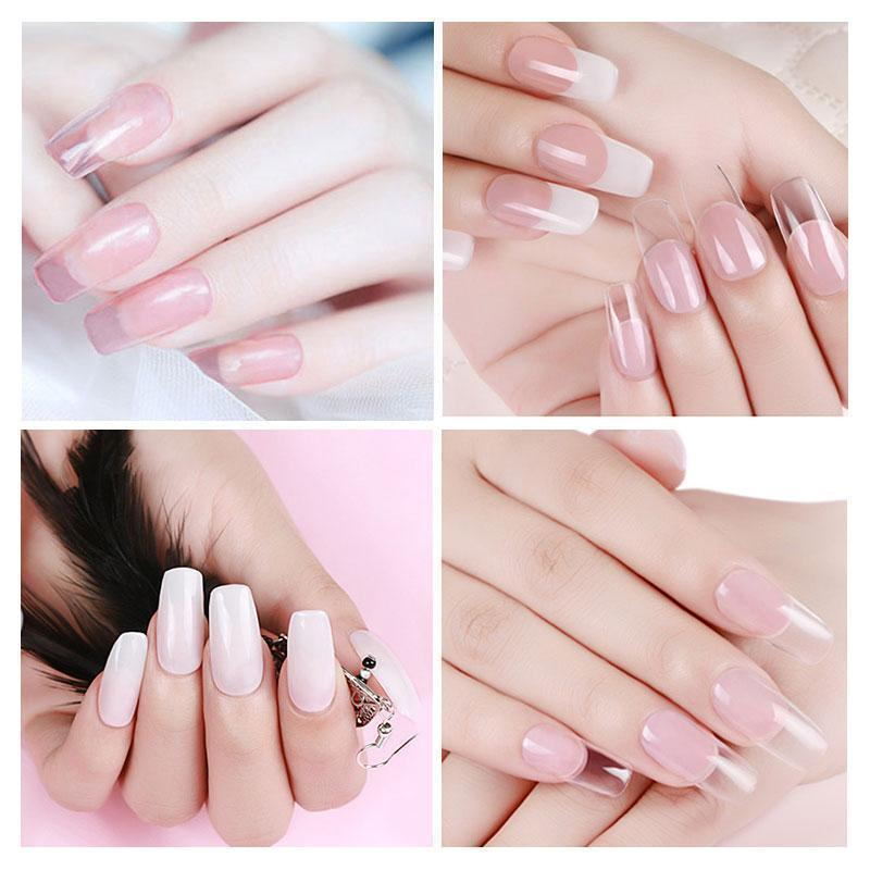 Bestsellrz® Polygel Nail Kit Fake Nails False Artificial Extension - ExoNail™ Nail Gel White ExoNail™