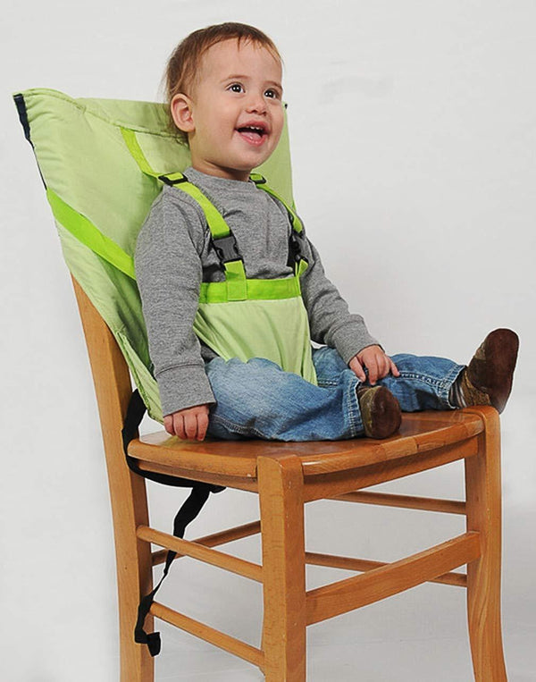 Bestsellrz® Portable Baby High Chair Booster Seat for Eating - Tuckio™ Fabric High Chair for Babies Green Tuckio™