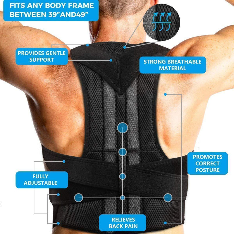 Bestsellrz® Posture Corrector Brace Back Support Belt Posture Trainer Women Men Braces & Supports Posture-Corrector Pro™