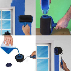 Bestsellrz® Pour & Paint Roller Wall Painting Tool Dripless Refillable Reservoir Brush- Rollify™ Paint Tool Sets Rollify™ Paint Kit