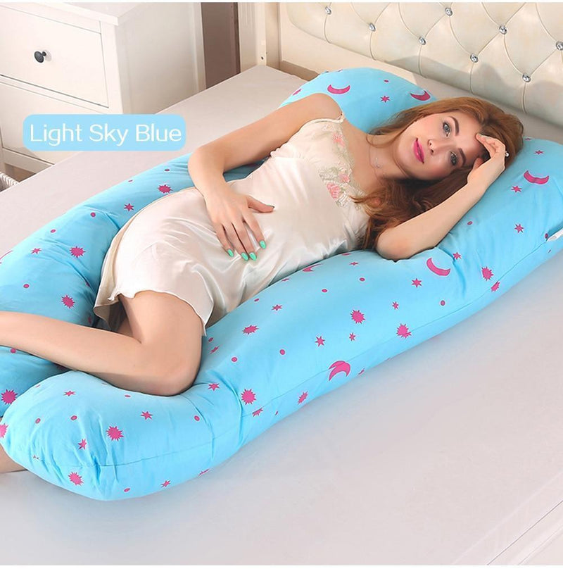 Bestsellrz® Pregnancy Body Pillow U Shaped Maternity Comfortable Support Pillows Pregnancy Pillows Light Sky Blue Cuddlevi™ - Maternity Pillow