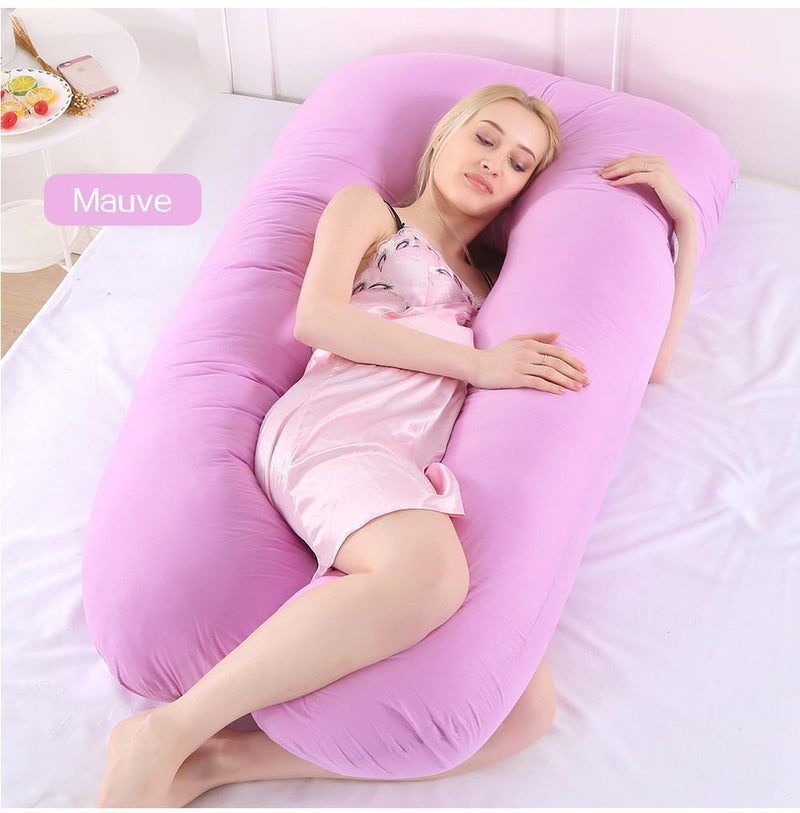 Bestsellrz® Pregnancy Body Pillow U Shaped Maternity Comfortable Support Pillows Pregnancy Pillows Mauve Cuddlevi™ - Maternity Pillow