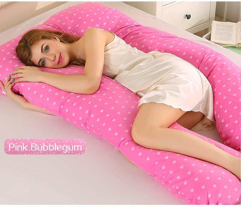 Bestsellrz® Pregnancy Body Pillow U Shaped Maternity Comfortable Support Pillows Pregnancy Pillows Pink Bubblegum Cuddlevi™ - Maternity Pillow